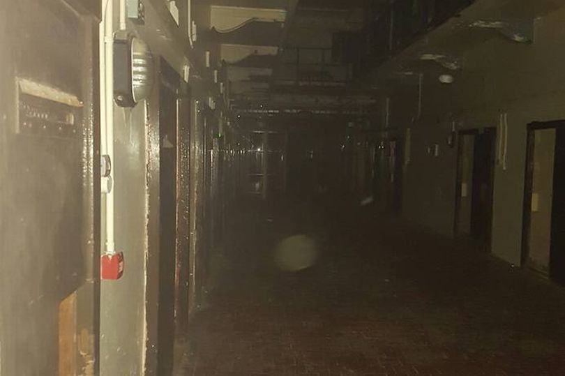 The photo that allegedly shows the ghost of the little girl at the Crumlin Road Gaol