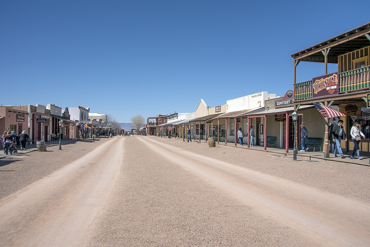 A photo of one of the streets at Tombstone, Arizona