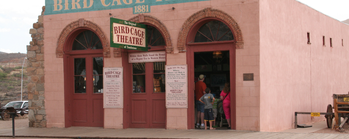 The Bird Cage Theater visited by visitors