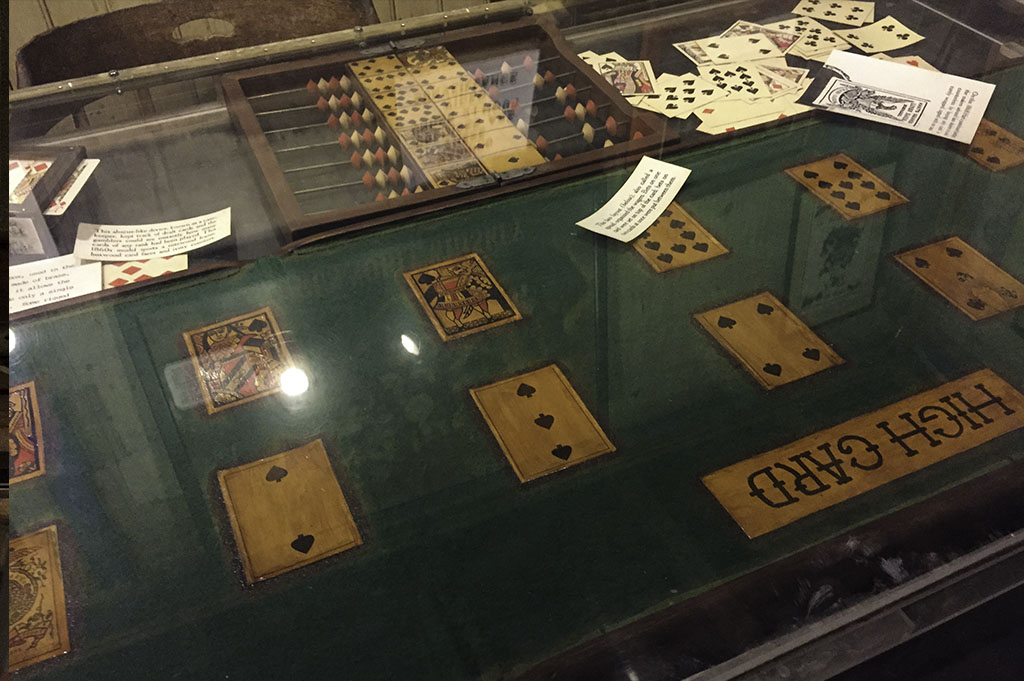 The original Poker table used at the Bird Cage Theater