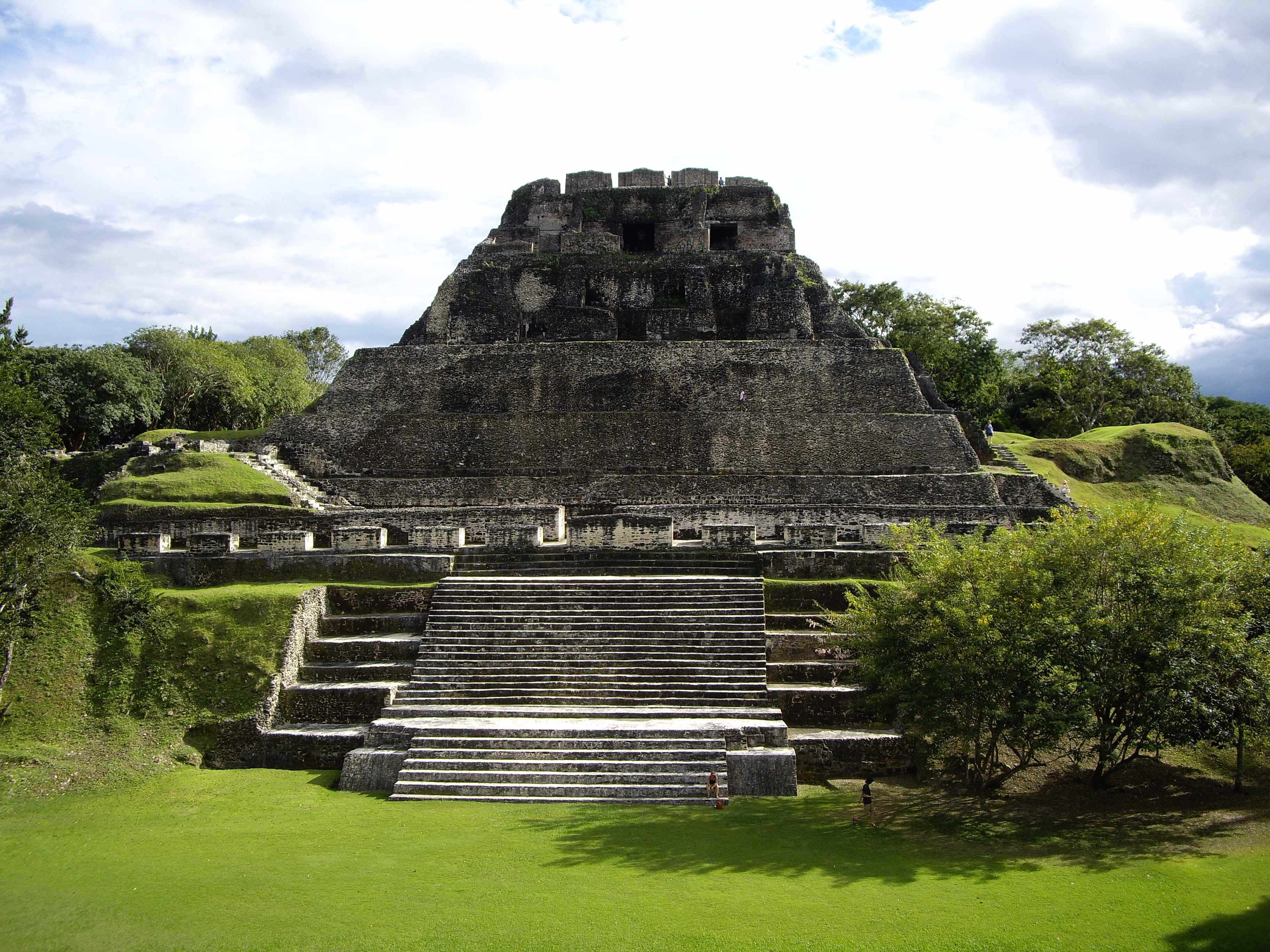 The stairs going up the pyramid at Xunantunich