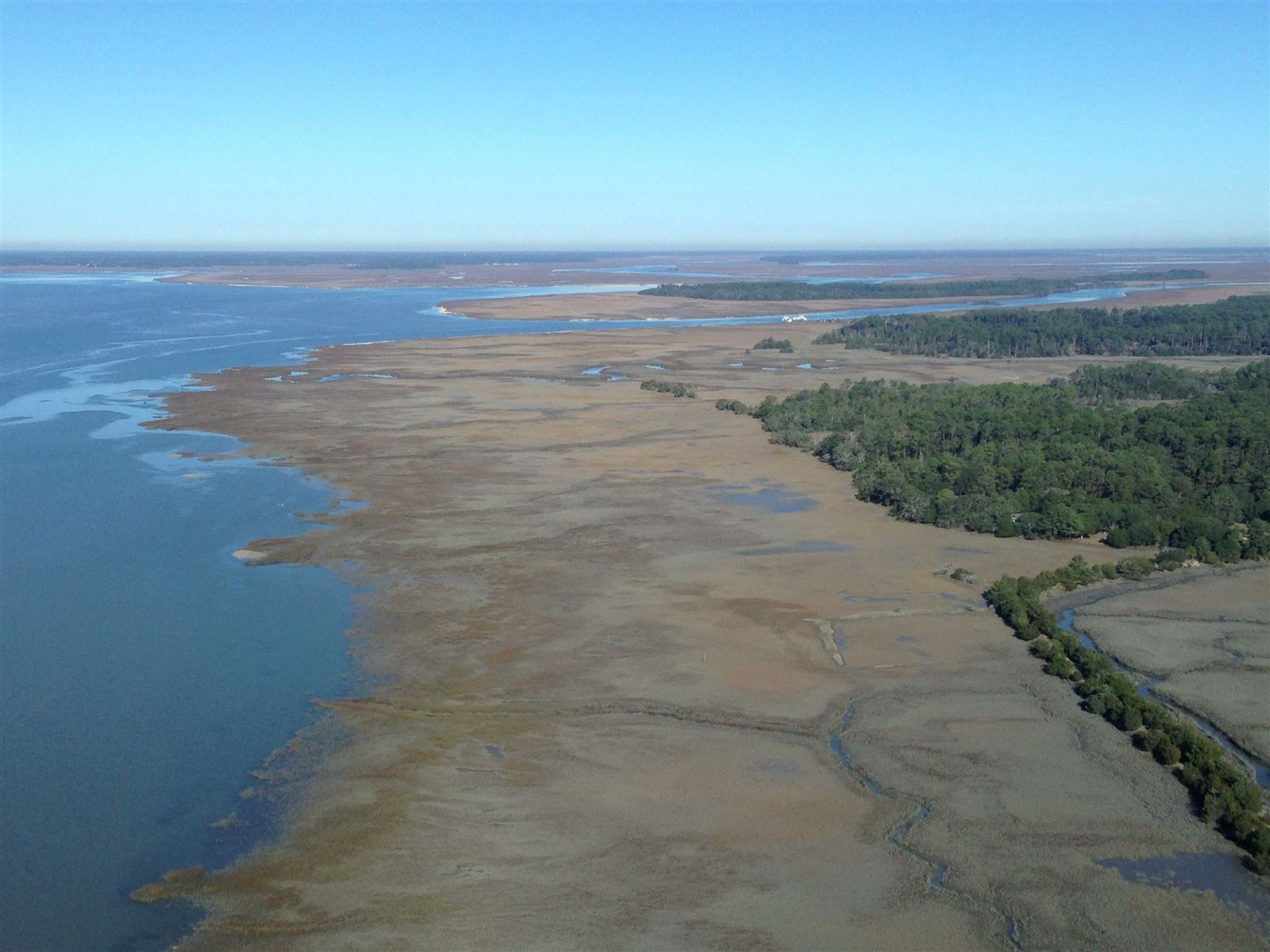 A photo showing the Igbo Landing from above