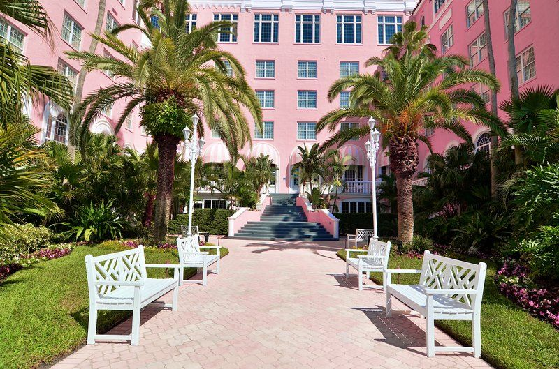 The courtyard at the Don CeSar Hotel