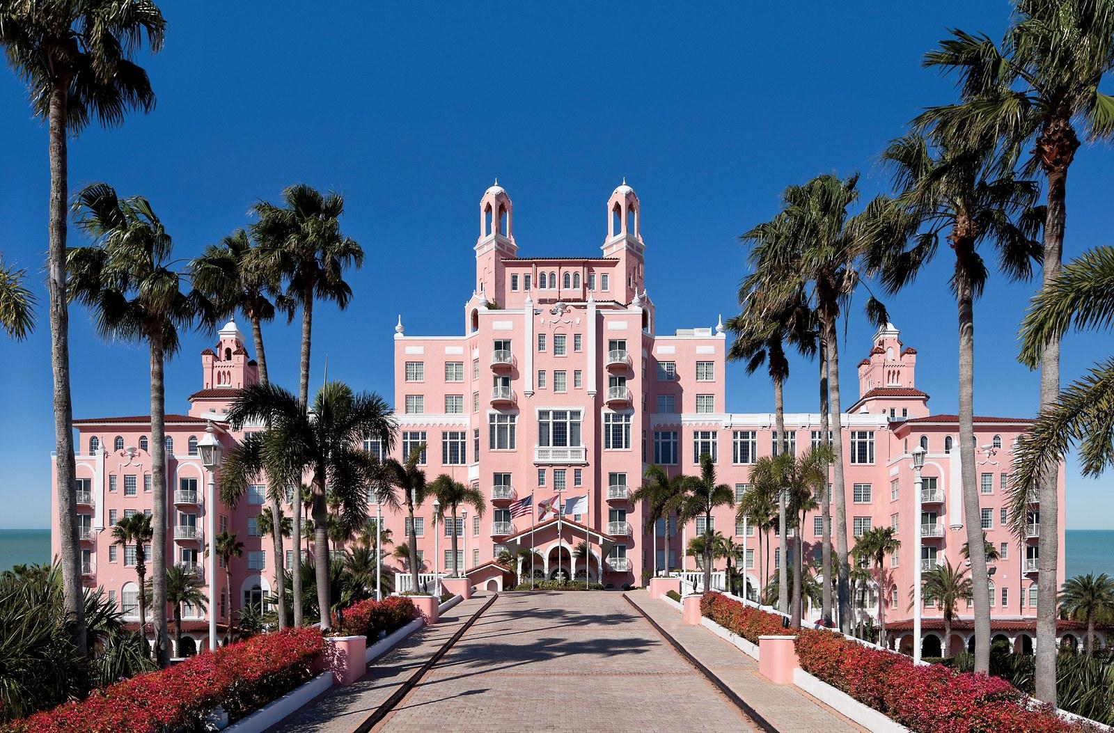 The facade of Don CeSar Hotel