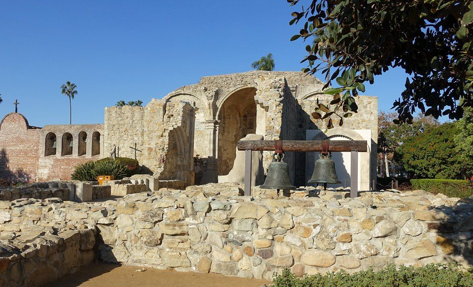 What remains of Mission San Juan Capistrano.