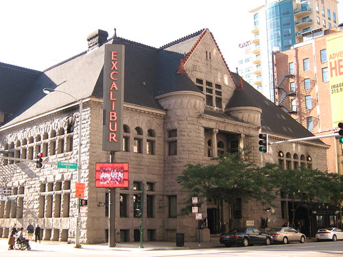 A photo of the Former Chicago Historical Society Building when it became the Excalibur