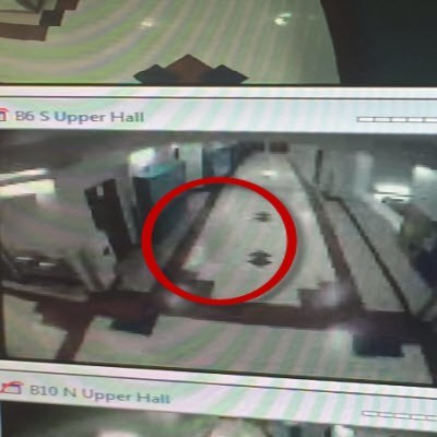 A screenshot of the supposed shadow that haunted Pocatello High School one evening