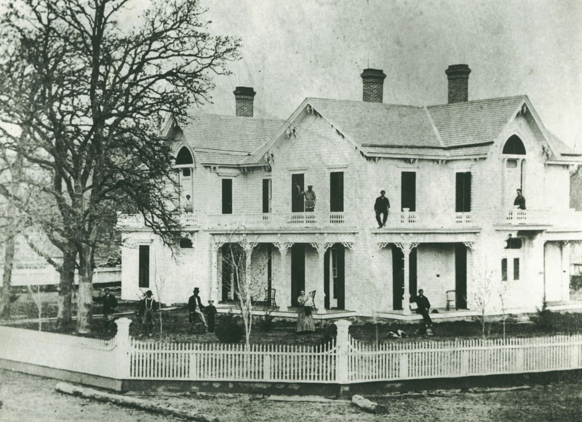 An old photo of the Jordan House