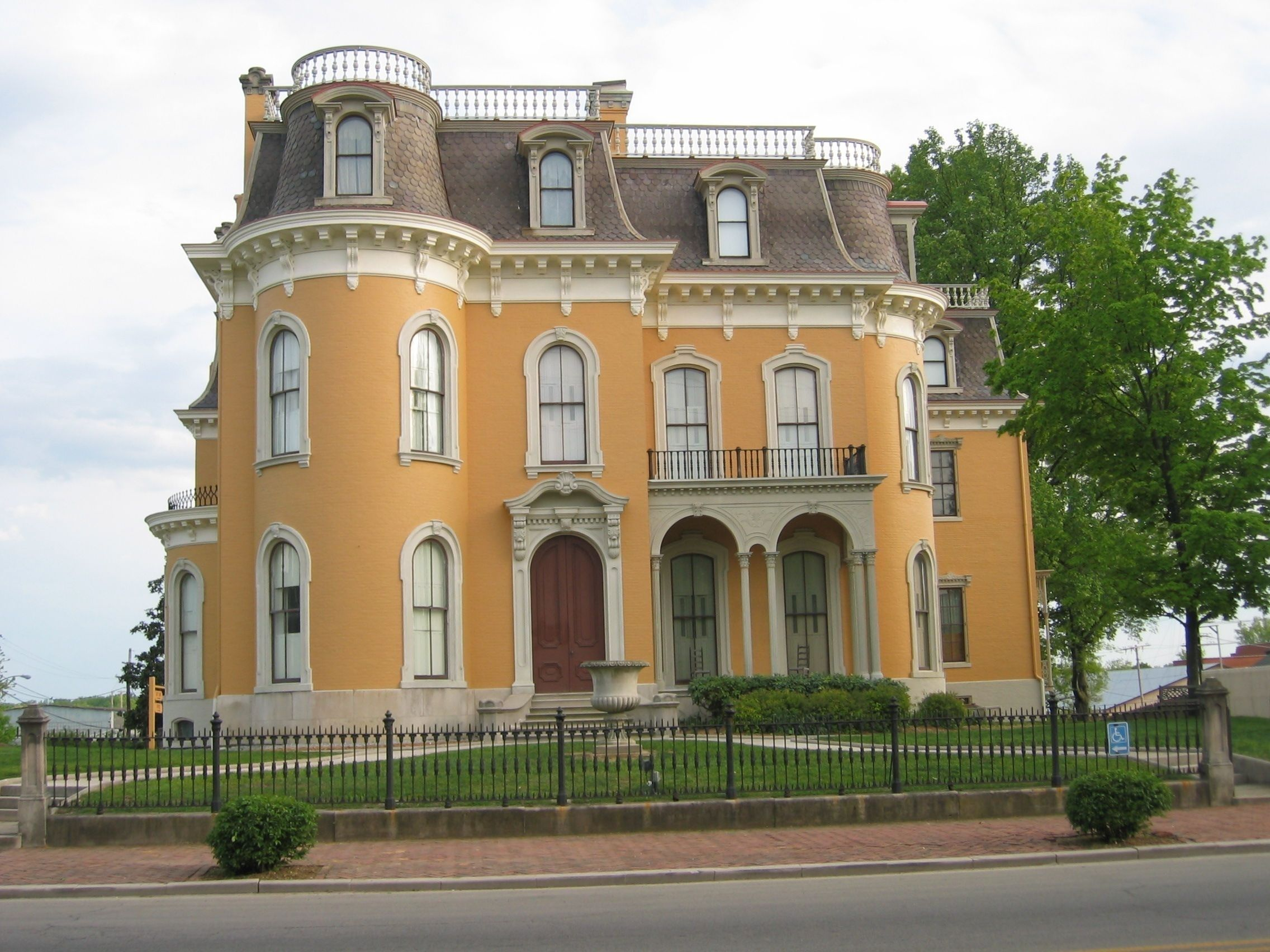 Culbertson Mansion State Historic Site as seen from the outside