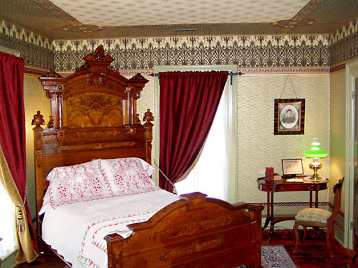 One of the rooms inside the Jordan House