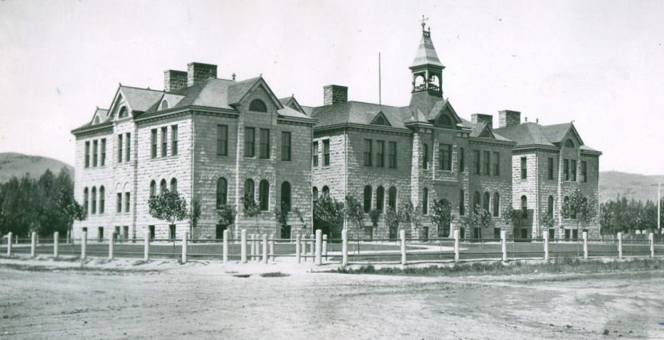 Pocatello High School before it was destroyed by fire