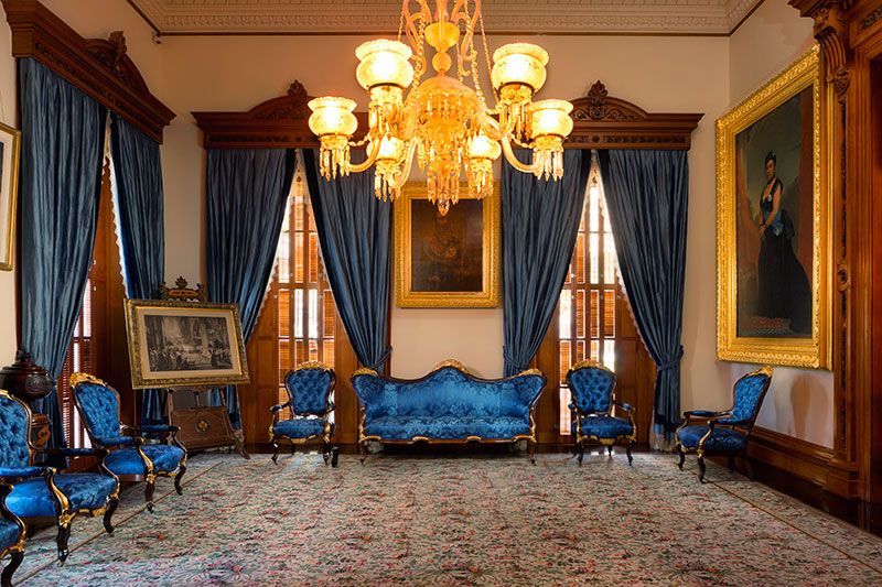 The Blue Room at the 'Iolani Palace