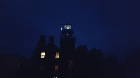 Big Bay Point Lighthouse at night