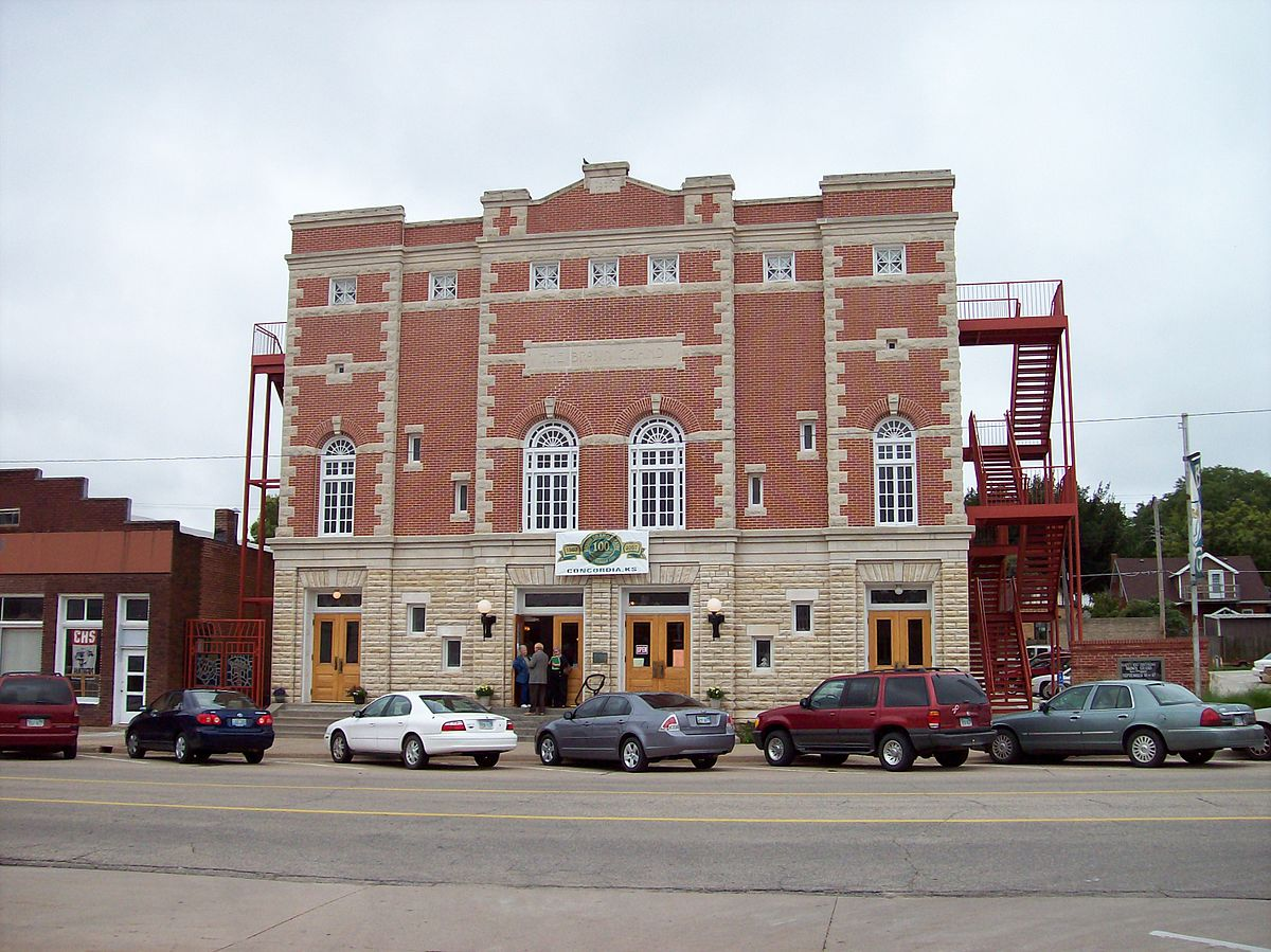 The facade of Brown Grand Theatre