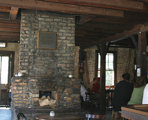 The fireplace at the Lafitte's Blacksmith Shop