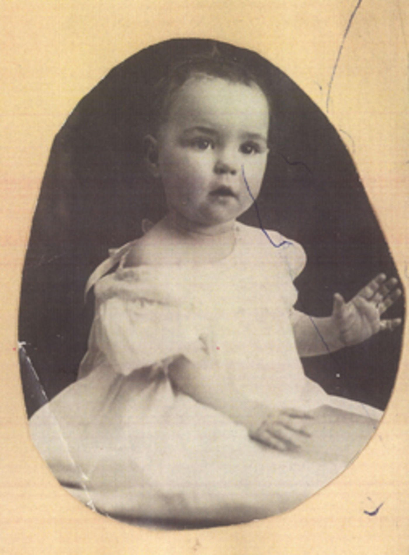 A baby photo of June Dickerson