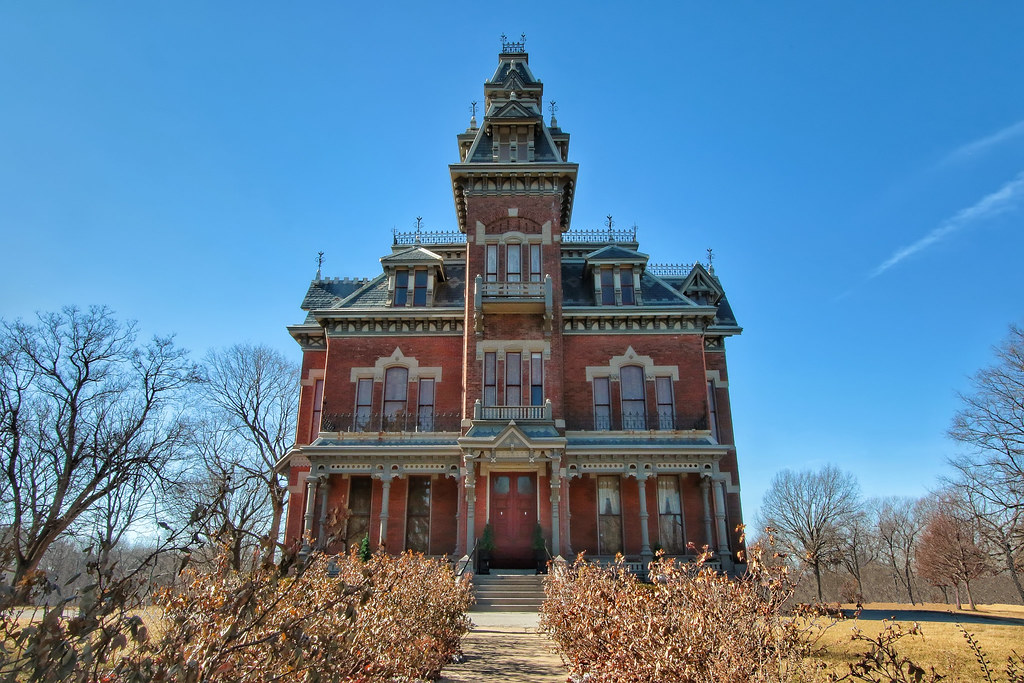 A photo showing the facade of the Harvey M. Vaile Mansion
