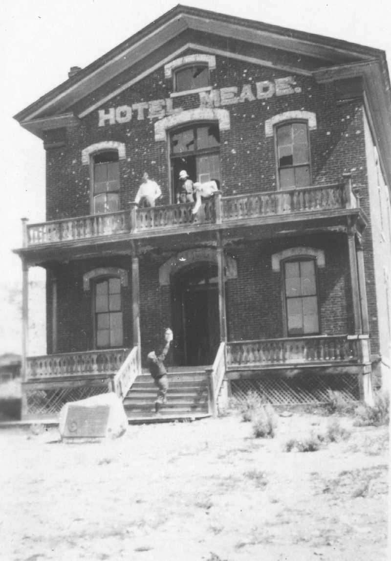 An old photo of Hotel Meade