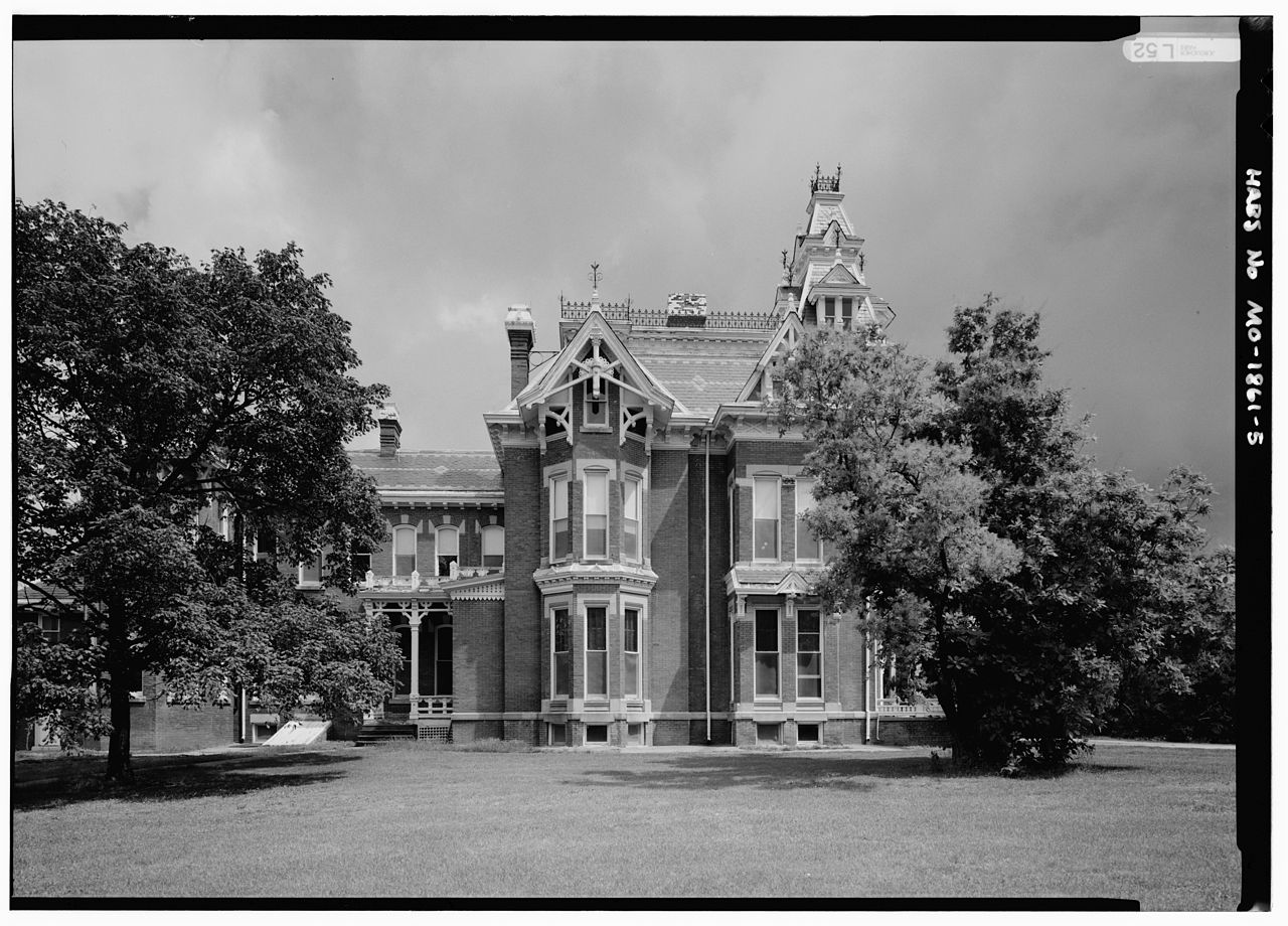 An old photo of the Harvey M. Vaile Mansion