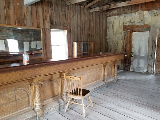 One of the saloons at Bannack, Montana