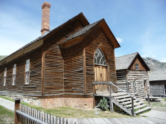 The church at Bannack, Montana