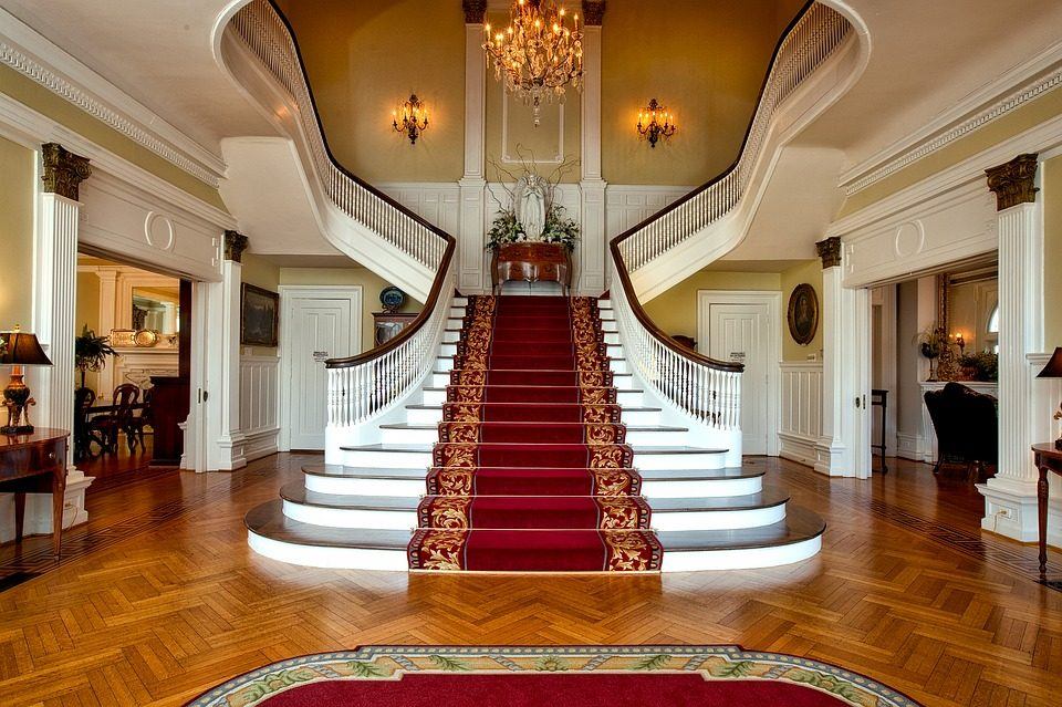 The staircase at the Nevada Governor's Mansion