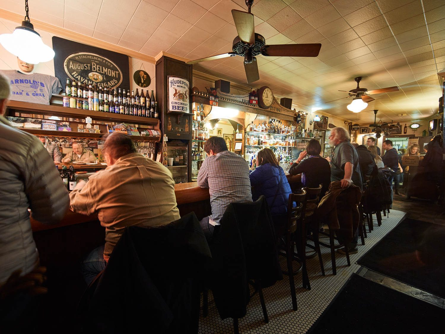 A busy night at Arnold's Bar and Grill