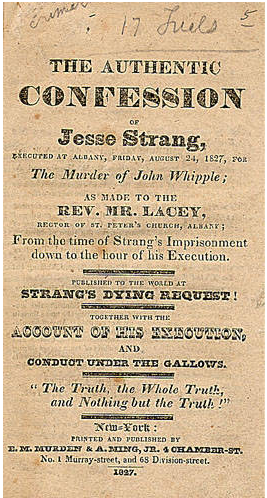 A photo of the confession of Jesse Strang