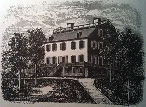 An undated illustration of the Cherry Hill House