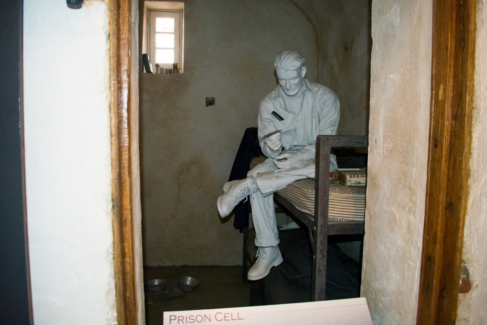 Another white washed sculpture at the Burlington County Prison