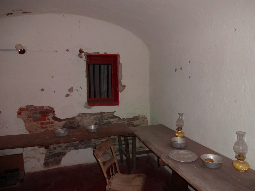 One of the rooms at the Burlington County Prison