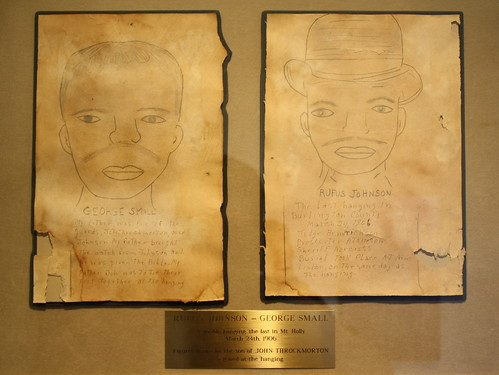 Undated drawings of Rufus Johnson and George Small