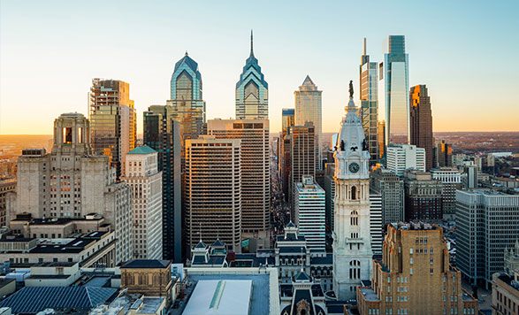 A photo of downtown Philadelphia