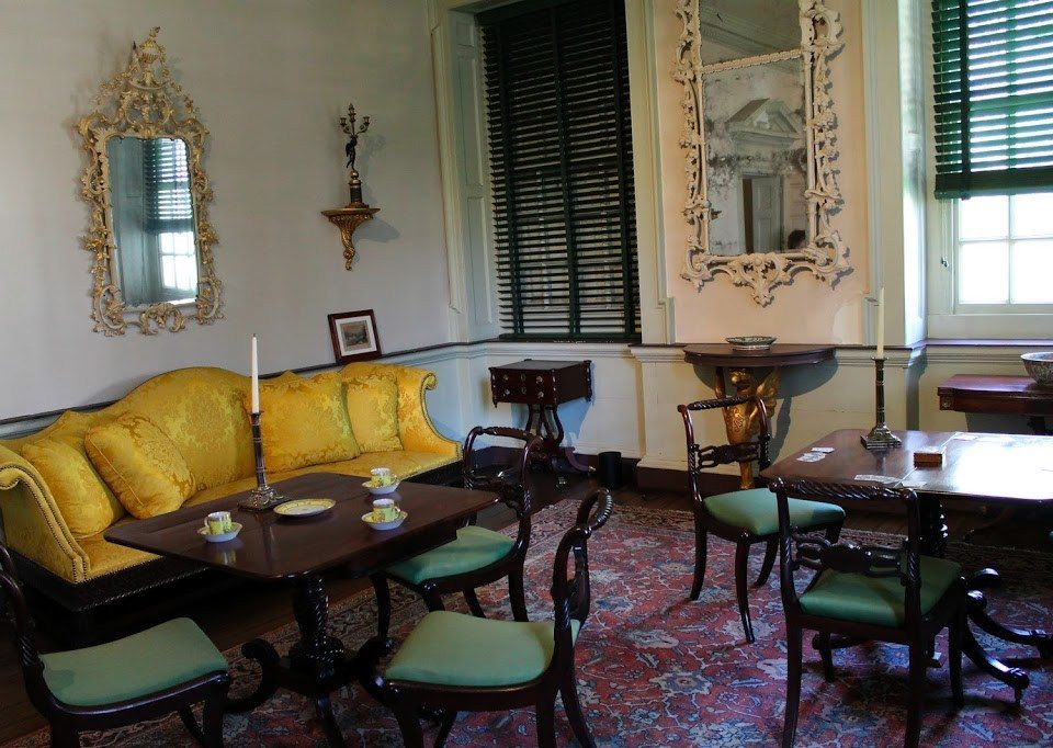Some of the preserved items inside the Benjamin Chew House