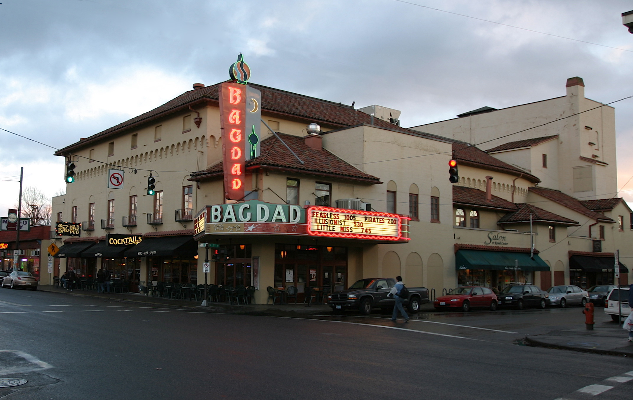 The Bagdad Theatre as seen from the outside