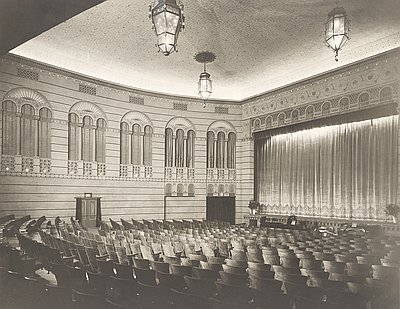 The Bagdad Theatre in an undated old photo