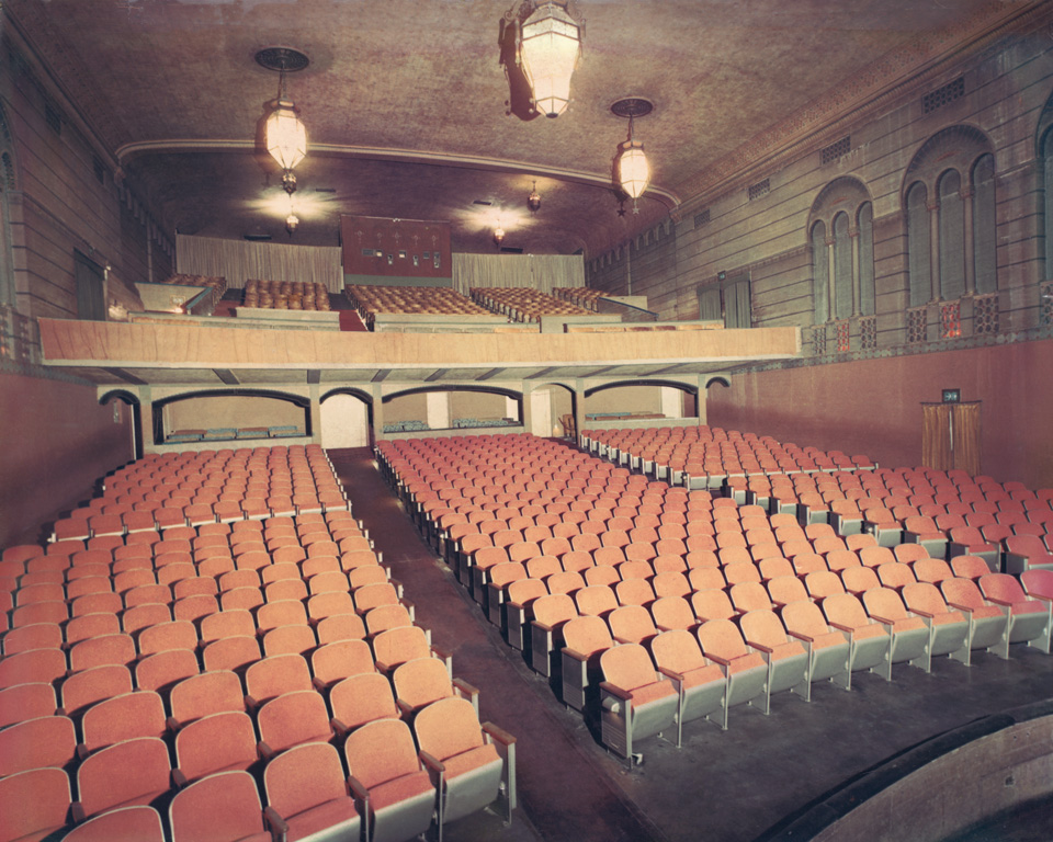 The empty seats of Bagdad Theatre