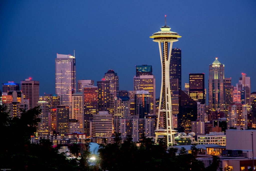 A skyline of Seattle