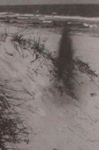 An alleged photo of the Gray Man at Pawleys Island