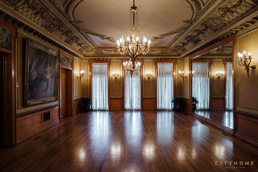 The ballroom at the Alfred McCune Home
