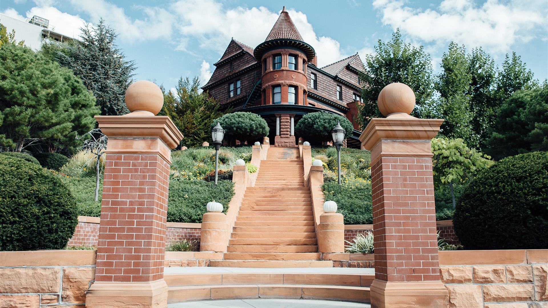 The stairs leading up to the Alfred McCune Home