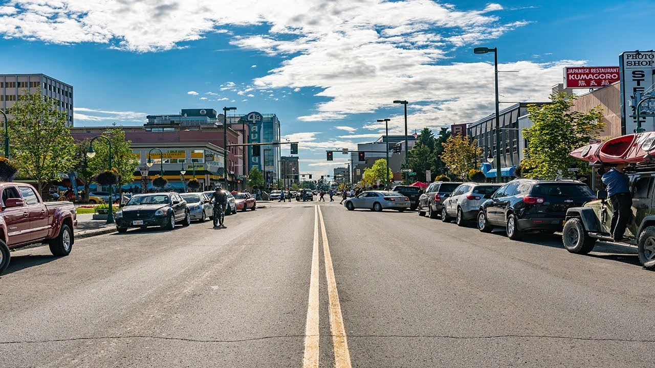A photo of downtown Anchorage, Alaska