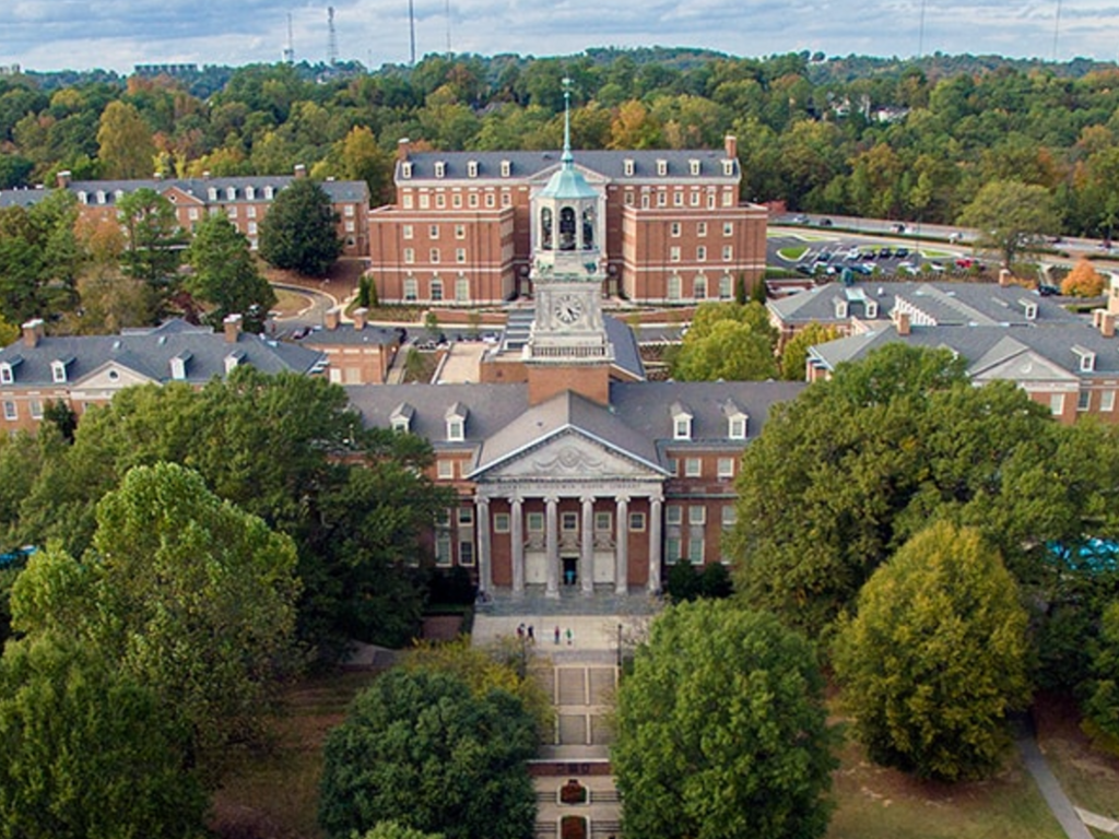 An aerial shot of the University of Montevallo