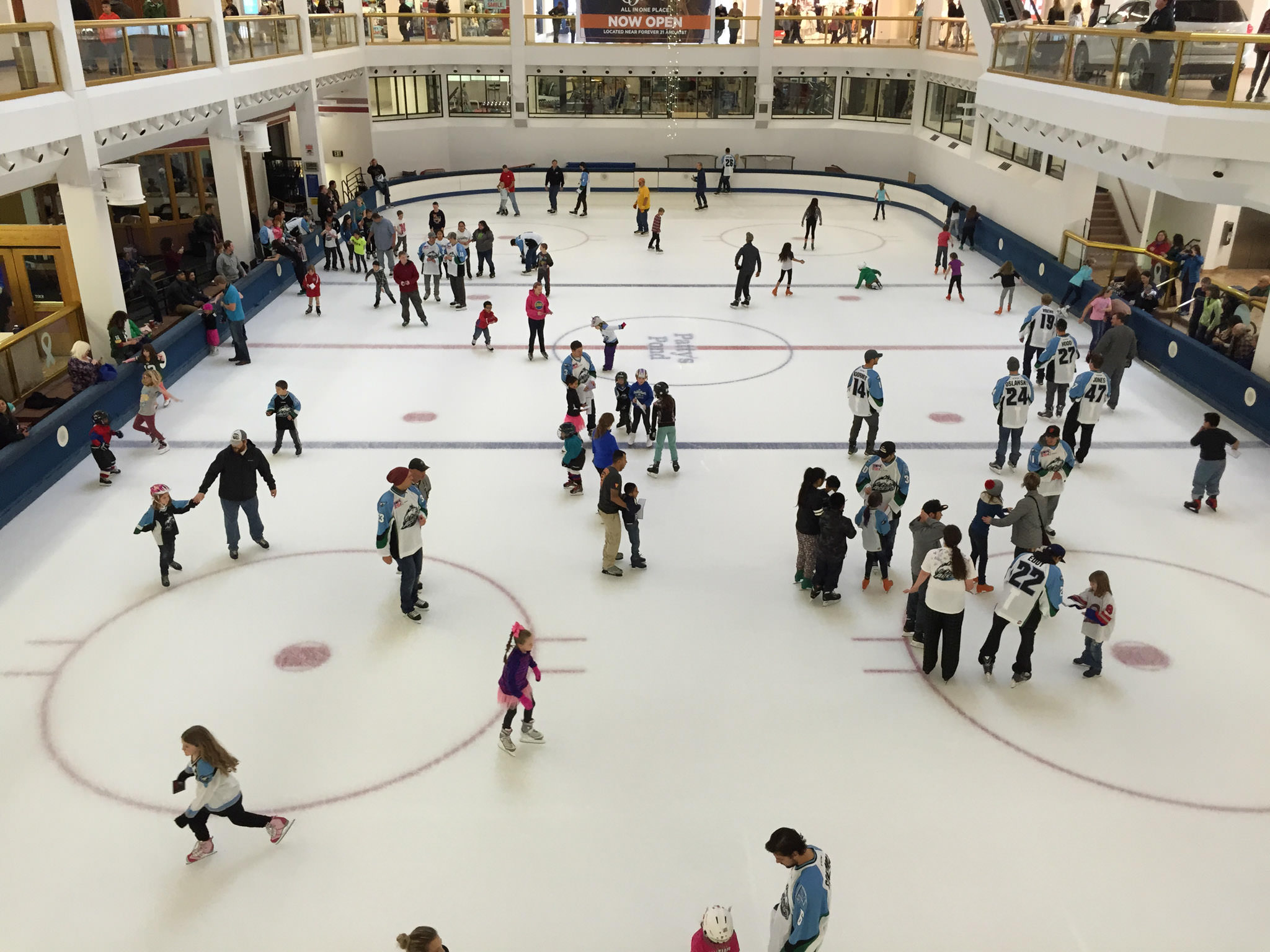 The skating rink at Dimond Center