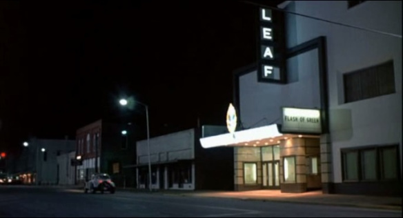 The Leaf Theater at night